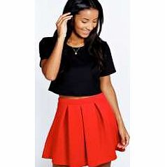 boohoo Katty Scuba Box Pleat Skater Skirt - red azz47865 Structured scuba fabric gets added definition with this skater skirts box pleat design, making it a firm favourite for fit and flare shape lovers! We love how easy it is to wear with a crop top , cour http://www.comparestoreprices.co.uk/skirts/boohoo-katty-scuba-box-pleat-skater-skirt--red-azz47865.asp