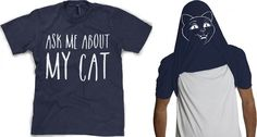 """90 Pawesome Cat T Shirts & Tanks! 