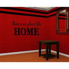 No Place Like Home Wall Art Sticker Decal
