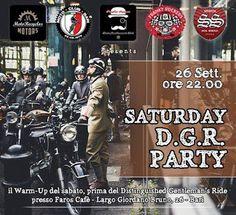 Ottima idea! tutti al Faro's Cafè a Bari per il Warm-Up del sabato, prima del Distinguished Gentleman's Ride. Che festa sia!!!!!