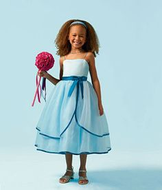 Alfred Angelo Girls Dress Style 6604- Spaghetti Strap Satin and Organza Dress with Trimming  This style is so dreamy that your little one will fall in love instantly. The spaghetti strap satin and organza dress has a double tiered skirt with beautiful trimming. To add that perfect finishing touch the style comes with a darling bow along the waist.  http://www.flowergirldressforless.com/mm5/merchant.mvc?Screen=PROD&Product_Code=AA_6604&Store_Code=Flower-Girl&Category_Code=Black