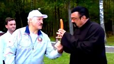 Belarus President Alexander Lukashenko and Steven Seagal eats carrot - Steven Frederic Seagal[1] (born April 10 1952)[2][3] is an American actor producer screenwriter director martial artist and musician who holds American Russian and Serbian citizenship.  A 7th-dan black belt in Aikido Seagal began his adult life as a martial arts instructor in Japan;[4] becoming the first foreigner to operate an Aikido dojo in the country.[5] He later moved to Los Angeles California where he worked as a…