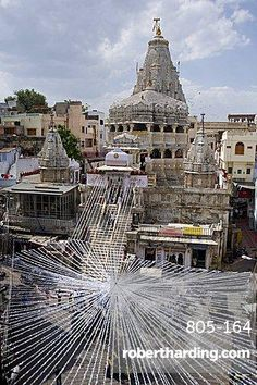 Hindu temple Jagdish Mandir, preparation for the Diwali festival celebrations, Udaipur, Rajasthan, India, Asia