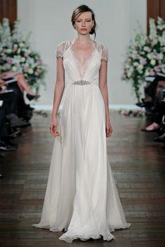"""Nouveau vintage, channeling the Art Deco era. Jenny Pakhman """"Dentelle"""" gown sold at Blue Bridal."""