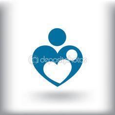 Amor de madre símbolo — Ilustración de stock #110235386