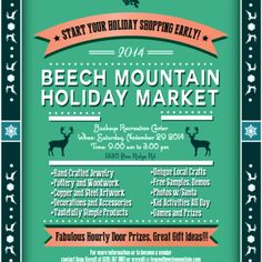 On November 26th, Beech Mountain is having its annual holiday market.