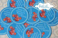 Finding Nemo Thank You Stickers by FreshInkStationery on Etsy