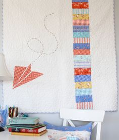 Free airplane applique template ~via sarahjanestudios (Perfect Boys Quilt!)