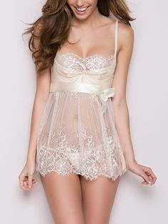 0892fb97e9 Shop Lace Eyelash Bowknot Babydoll Lingerie – Discover sexy women fashion  at IVRose
