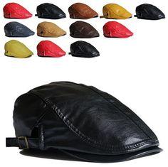 Cheap Cap sombreros para 2015 ¡ nueva llegada de venta caliente Unisex adultos colores sólidos Pu moda Casual vendedor de periódicos sombrero Cabbie hiedra, Compro Calidad Caps Newsboy directamente de los surtidores de China: