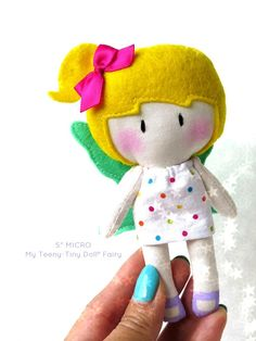 "5"" MICRO My Teeny-Tiny Doll® - Fairy by Cook You Some Noodles®"