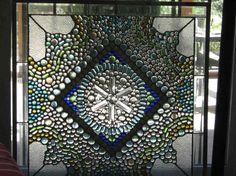 Stained glass panels - eclectic - window treatments - tampa - Tampa Landscape Design
