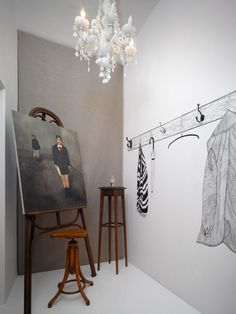 Gallery by Minty Concept Club in Prague - experiential retail and gallery - love the trompe l'oeil