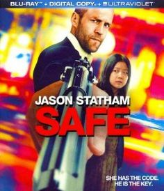 """Safe (BLU-RAY)--""""An action packed film filled with gangsters, killers, and THE EXPENDABLES? Jason Statham! When a second-rate cage fighter, Luke Wright, is tormented by the Russian Mafia and wanders the streets of New York, he witnesses a young Chinese girl Mei, being pursued by the same mafia who want her for a priceless numerical code that they would kill for."""""""