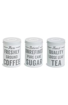 Free shipping and returns on TYPHOON 'Mason Cash Baker Street' Coffee, Tea & Sugar Tins (Set of 3) at Nordstrom.com. Add a touch of nostalgic charm to your kitchen while conveniently storing your daily staples with a trio of vintage-inspired tins.