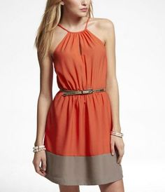 1176f7bd937 Loving the stripe! I am not sure about the belt but I love this dress