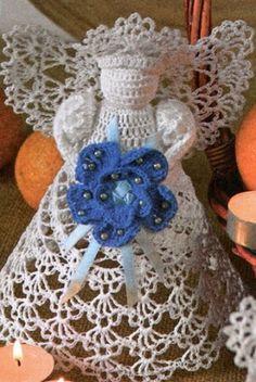 Knitted Angel  russian pattern