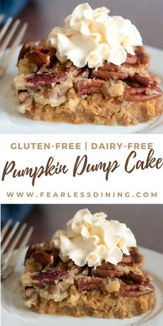 Dairy Free Deserts, Dairy Free Recipes Easy, Dairy Free Options, Gluten Free Pumpkin, Gluten Free Dairy Free Desserts, Dairy Free Appetizers, Gluten Free Cakes, Gluten Free Thanksgiving Dessert, Paleo