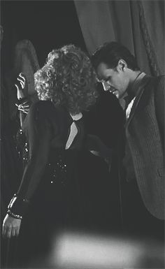 """Go on husband, have a tantrum and don't give a crap about me, I'll break my wrist because we totally love each other"" And also, as a side note, he is TOTALLY checking out her butt I Am The Doctor, Eleventh Doctor, Alex Kingston, Hello Sweetie, Don't Blink, Idol, Matt Smith, David Tennant, Dr Who"