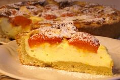 Meruňkový koláč s tvarohovou nádivkou
