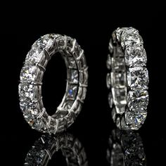 Lili Jewelry cushion-cut #diamond eternity band