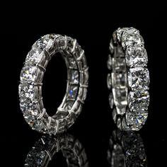 Lili Jewelry cushion-cut #diamond eternity band