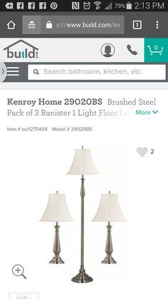 Pack of 3 floor lamp option (2 table & 1 3 way floor lamp)