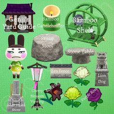 Animal Crossing Wild World, Animal Crossing Guide, Animal Crossing Villagers, Animal Crossing Pocket Camp, Stone Lion, Stone Lantern, Island Theme, Zen Style, Lion Dog