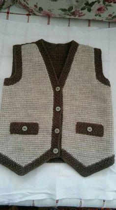 Knitted Baby Cardigan Models – Fatma Teker – Join the world of pin Crochet For Boys, Knitting For Kids, Free Knitting, Cardigan Bebe, Knitted Baby Cardigan, Baby Knitting Patterns, Tunisian Crochet, Knit Crochet, Baby Boy Vest