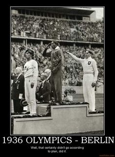 Jesse Owens   He received gold medals in the 100 m,  200 m, Long Jump and the Relay Race.