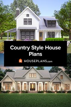 Get country style with our collection of country house plans. Click the image to explore the collection. Questions? Call 1-800-913-2350 today. #blog #architecture #modern #modernhouseplans #shedhome #shedroof Country House Plans, Modern House Plans, House Floor Plans, Modern Country Style, Country Style Homes, Modern Farmhouse Exterior, Modern Farmhouse Kitchens, Tiny Houses Plans With Loft, Loft House