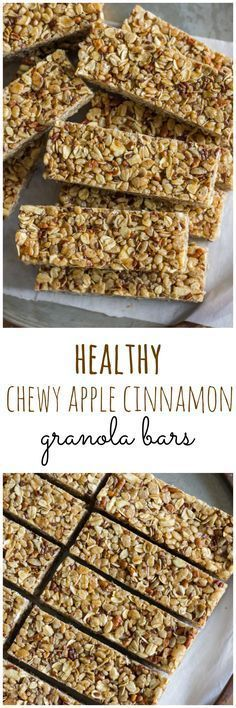 Chewy Apple Cinnamon Granola Bars (sub date syrup for honey and erythritol & 1tsp molasses for brown sugar)