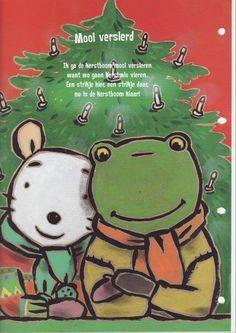 Praatplaat Bas Kerstmis Getekend Door Dagmar Stam