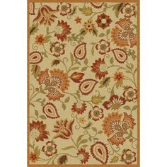 Handmade Blossom Paisley Beige Wool Rug, 4' x 6', $119.99