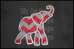 MEDIUM Elephant Applique Embroidery Design by SillyCatDesigns on Etsy https://www.etsy.com/listing/120538145/medium-elephant-applique-embroidery