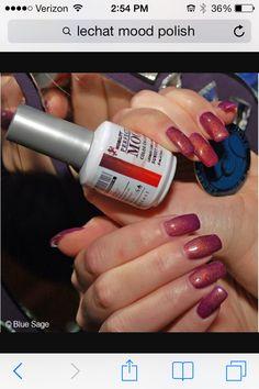 Gel polish mood changing color by savannah Mood Nail Polish Gel, Mood Changing Nail Polish, Color Change Nail Polish, Gel Nail Colors, Nail Polish Designs, Gel Nails, Nails Design, Manicures, Coffin Nails