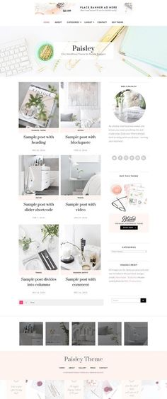Paisley WordPress Theme by Bluchic on @creativemarket