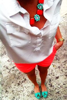 Colorful summer outfit, preppy cute find more women fashion ideas on http://www.misspool.com find more women fashion ideas on www.misspool.com