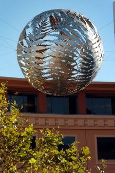 wellington art icons- The popular Fern Ball sculpture.