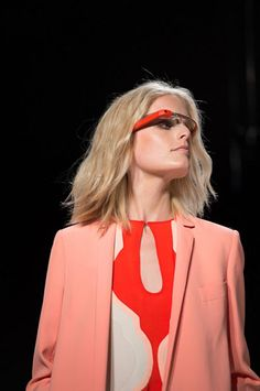 Google Glass Camera Glasses Used by Runway Models as a Fashion Accessory