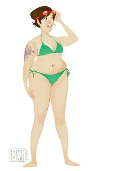 the one and only green bikini! by Loish