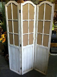 6ft Tall Room Divider in Anitique Style Open Mesh Kick plate Loft