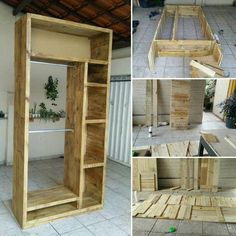 wooden pallet diy wooden pallets wardrobe - If you are getting bored with the old shipping pallet boards of your house and planning to m… in 2020 Free Wooden Pallets, Wooden Pallet Projects, Wooden Pallet Furniture, Recycled Pallets, Wooden Diy, Wood Pallets, Diy Furniture, Pallet Boards, Pallet Ideas