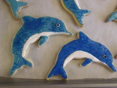 Dolphin cookies! My life will never be complete until I have a dolphin cookie cutter and make some awesome dolphin cookies!!!
