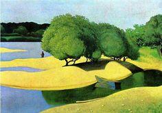 Félix Vallotton「Les bancs de sable sur la Loire」(1923)