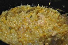 Slow Cooker Cheesy Chicken And Rice (The downside of being a Swan Princess) - Southern Plate Crock Pot Food, Crockpot Dishes, Crock Pot Slow Cooker, Slow Cooker Recipes, Crockpot Recipes, Cooking Recipes, Yummy Recipes, Meal Recipes, Rice Recipes