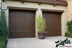 Wooden Garage Doors Design Ideas, Pictures, Remodel, and Decor Garage Door Panels, Custom Garage Doors, Wooden Garage Doors, Garage Door Styles, Garage Door Design, Custom Garages, Spanish Home Decor, Spanish Colonial Homes, Spanish Style Homes