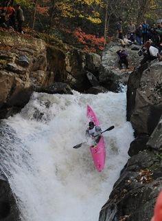 rippin it badass in that pink kayak, love it!!
