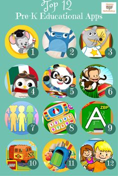 Top 12 Pre-K Educational Apps for Kindle & Android Parent Reviews Included - a MUST for any parent who wants their child to learn while using technology for play   Read More at mommymethodology.com