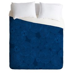 Camilla Foss Circles In Blue I Duvet Cover | DENY Designs Home Accessories